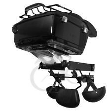 Motorcycle Harley Touring Trunk Black Wall Mount Storage Rack Tour Pak Accessory