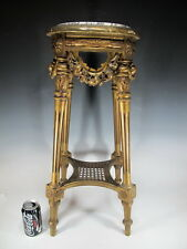 Antique French Louis XVI gilt carved wood pedestal - 11469