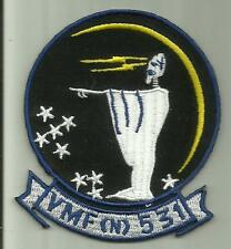VMF 531 (N) GREY GHOST USMC MILITARY PATCH AIRCRAFT FIGHTER SQD CHERRY POINT NC