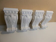 FOUR CORBELS SHELF SUPPORTS KITCHEN FIRE PLACE MANTLE PIECE WHITE PLASTER
