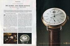▬► PUBLICITE ADVERTISING AD Montre Watch BELL & ROSS WW1 2 pages