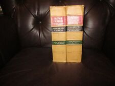 "VINTAGE 1952 ~""THE NEW CENTURY DICTIONARY""~2 VOLS.~A to ZYMURGY~GOOD COND!.RARE!"