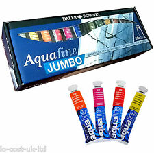 DALER ROWNEY ARTIST AQUAFINE JUMBO WATERCOLOUR PAINT TUBE SET 36x8ml