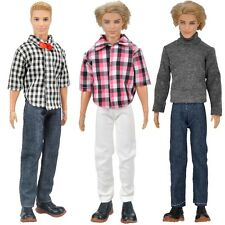 Fashion 3 Sets Doll Clothes Casual Suits Tops Pants Jeans For Barbie Ken Dolls S