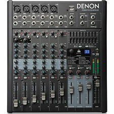 DENON DN-408X 8 Channel Pro FX USB Live Event or Home Studio Audio Mixer