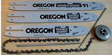 """OREGON Schwert + 3 x Sägeketten für STIHL Hobby-Motorsägen 3/8"""" 1,1mm 50Tg. 35cm"""