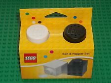LEGO Salt u Pepper shakers 850705 Salt & Pepper Black & White NEW NEW
