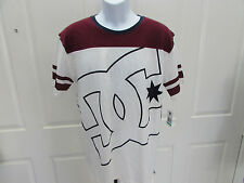 NEW w/Tag-Men's White/Burgandy DC Shirt Sz L