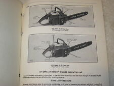 ORIGINAL JOHN DEERE No.8 & No.9 CHAINSAW PARTS CATALOG MANUAL