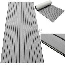 Self-Adhesive EVA Foam Boat Decking Sheet Marine Flooring Faux Teak 2.4M Grey