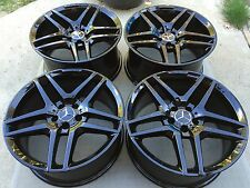"""19"""" NEW 2015 S63 S65 CL63 S500 S550 S600 FACTORY MERCEDES AMG BLACK WHEELS TIRES"""