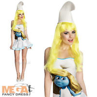 Deluxe Smurfette Ladies Fancy Dress The Smurfs Cartoon Movie Womens Costume