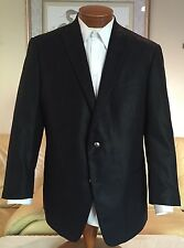Stunning NEW John Varvatos USA Mens Black Silver Btn Blazer Jacket Sz 46 R