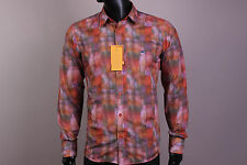 New Slim Fit Etro Button-Front Etro Casual Men's Shirt Size XXL