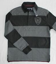 BNWT M&S Mens Blue Harbour Rugby Polo Shirt Top Size Small Striped Navy Mix