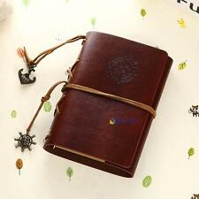 Vintage Classic Retro Leather Journal Travel Notepad Notebook Blank Diary B