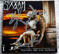 Sixx A.M. Prayers For The Damned CD Signed By All 3 Nikki Sixx Motley Crue Auto