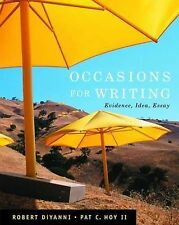 Occasions for Writing, Hoy, Pat, DiYanni, Robert J., New Condition