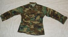 BDU SHIRT, GI WOODLAND CAMO  50/50 NYCO RIPSTOP, MED/REG, 1999 ISSUE, GOOD!