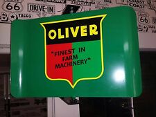 OLIVER TRACTOR NOSTALGIC SPINNING ADVERTISING SIGN 2 SIDED FINEST IN FARM