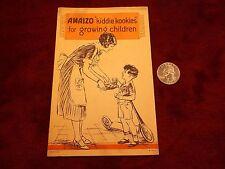 """VERY RARE VTG ANTIQUE 1925 ADVERTISING BROCHURE """"AMAIZO OIL"""" -- 'KIDDIE KOOKIES'"""