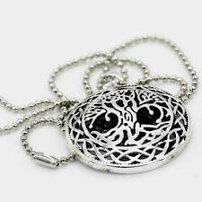Silver World Tree Yggdrasil Pendant Necklace &Beads Chain