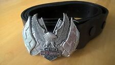 HARLEY DAVIDSON sólido bronce BARON 1983 Cinturón Y Hebilla De Águila