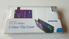 Official Original   NEW SAMSUNG GALAXY NOTE 4 S VIEW FLIP COVER WHITE