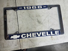 "VINTAGE LICENSE PLATE FRAME ""1966 CHEVELLE""  MALIBU SS 66 327 396 2-4 DOOR COUPE"