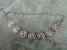 Quality Vintage Modernist Ethnic Sterling Silver Collar Necklace Taxco? 36.3g