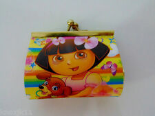 NEW DORA The Explorer & Perrito Kiss Lock COIN PURSE Lenticular Eyes Open Close