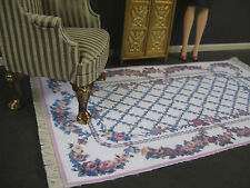 1:6  Scale  LARGE  AREA  RUG  ~ for  BARBIE ~ Handcrafted Miniature ~  Diorama