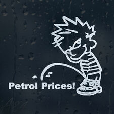 Calvin Pee On Petrol Prices Funny Car Or Laptop Decal Vinyl Sticker