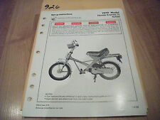 1979 Honda Honda Express II NA50 Dealer Assembly Set Up Instructions Manual