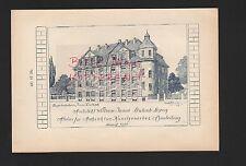 LEIPZIG-LEUTZSCH, Werbung 1908, Architekt William Jonas Kunstgewerbe