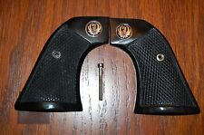 CHECKERED BUFFALO HORN / STAG GRIPS FOR A RUGER NEW MODEL VAQUERO