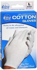 3 Pack CARA Dermatological 100% Cotton Hypo-allergenic Gloves Large 1 Pair Each
