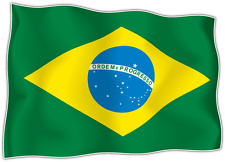 "Brazil Country Flag Car Bumper Window Mirror Sticker Decal 5""X4"""