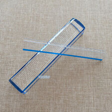 8 Inch 5X Blue Raised Domed Bar Magnifier with Reading Tracking Line