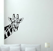 Giraffe Wall Decal Wild Animal Nursery Vinyl Sticker African Decor Mural 49hor
