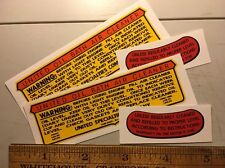 B&S Briggs United Oil Bath decal Set Of Two For Two Engines