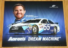 2015 Brian Vickers Aaron's Toyota Camry NASCAR Sprint Cup postcard