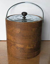 VINTAGE BARWARE COLLECTIBLE IS THIS IRVINWARE® MADE IN USA ICE BUCKET METAL TOP