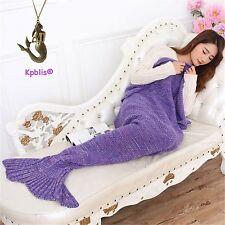 Kpblis Warm and Soft Mermaid Tail Blanket 7 diffenrent Colors Mermaid Blanket...
