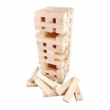 Outdoor Garden Family Fun Game Giant Wooden Tumbling Jenga Tower Black 1.2M New