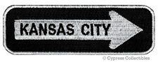 ONE-WAY SIGN PATCH KANSAS CITY KC EMBROIDERED iron-on TRAVEL EMBLEM APPLIQUE