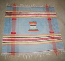Vintage Native American Blanket Throw Rug Cotton Southwestern EXC.