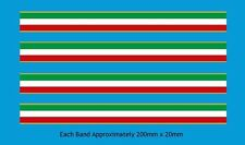 Italian Tricolore Stripes Bicycle Decal-Transfer-Sticker #3