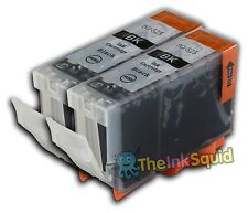 2 PGI-525BK Black Ink Cartridges for Canon Pixma MG5150