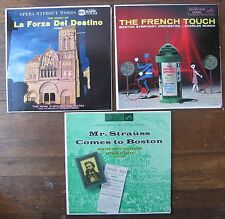 3 Records: La Forza Del Destino, The French Touch Munch, Mr Strauss A. Fiedler